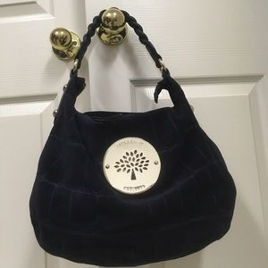 Mulberry Daria Medium Hobo Blue Suede